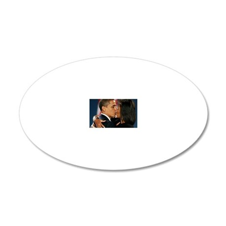 ART Obama first lady v1 20x12 Oval Wall Decal