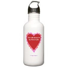 ART text first lady ve Water Bottle