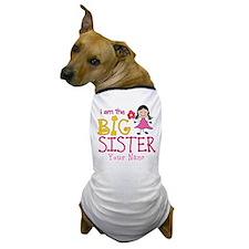 Stick Figure Flower Big Sister Dog T-Shirt