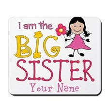 Stick Figure Flower Big Sister Mousepad