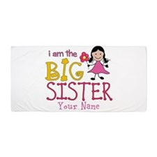 Stick Figure Flower Big Sister Beach Towel