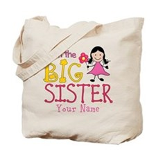 Stick Figure Flower Big Sister Tote Bag