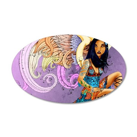 asian-angel-poster-lg 35x21 Oval Wall Decal