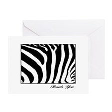 Thank You Note Cards Zebra Design Greeting Card