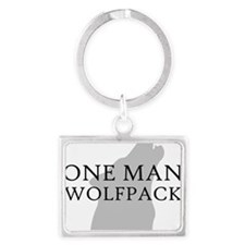 ONE MAN PACK WHITE Landscape Keychain