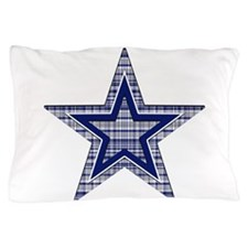 Blue and Silver Plaid Pillow Case