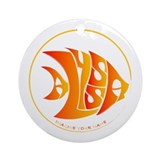 Alyssa orange fish Ornament (Round)