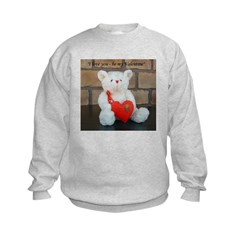 Valentine Teddy Bear Kids Sweatshirt