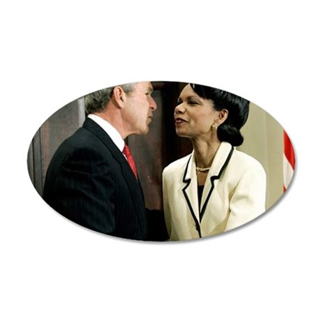 ART George and Condi 35x21 Oval Wall Decal