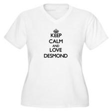 Keep Calm and Love Desmond Plus Size T-Shirt