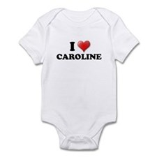 I LOVE CAROLINE T-SHIRT CAROL Infant Bodysuit