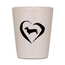 Wiener2 Heart Shot Glass