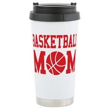 basketball-mom-red Ceramic Travel Mug