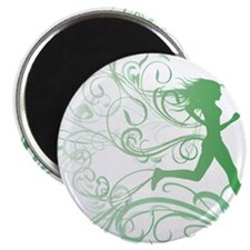 green_runner_girl Magnet