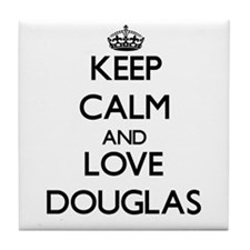 Keep Calm and Love Douglas Tile Coaster