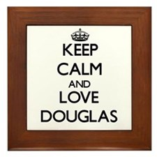 Keep Calm and Love Douglas Framed Tile