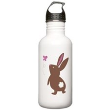 Bunny with Butterfly Water Bottle