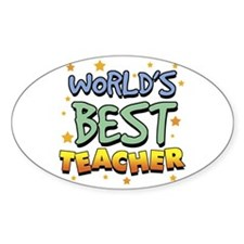 World's Best Teacher Oval Decal