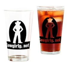 2-cowgirly logo10 Drinking Glass