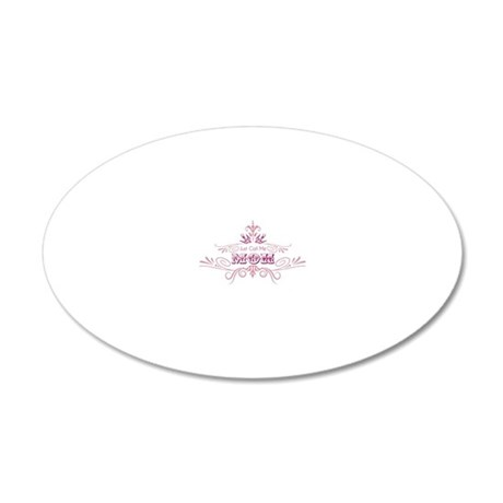 Maid of Honorfront 20x12 Oval Wall Decal