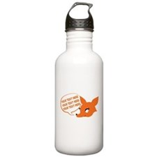 CUSTOM TEXT Cute Fox Water Bottle