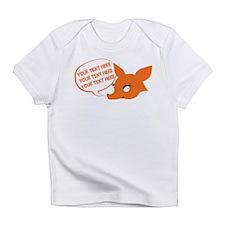 CUSTOM TEXT Cute Fox Infant T-Shirt