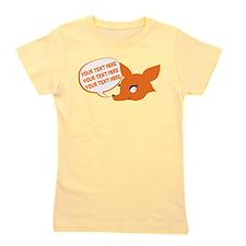 CUSTOM TEXT Cute Fox Girl's Tee