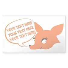 CUSTOM TEXT Cute Fox Decal