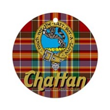 chattan4.5x4.5 Round Ornament