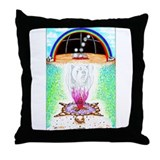 Four Doorways of Big Bear Throw Pillow
