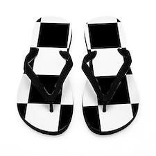 Black And White Checker Board Flip Flops