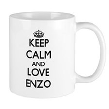Keep Calm and Love Enzo Small Mugs
