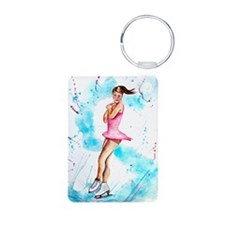 jump Aluminum Photo Keychain