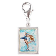 Blue Dream Silver Portrait Charm