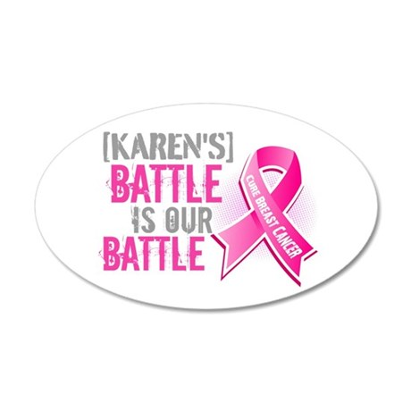 Personalized Breast Cancer 20x12 Oval Wall Decal