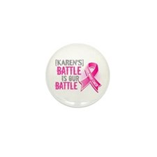 Personalized Breast Cancer Mini Button (100 pack)