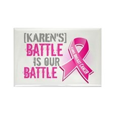 Personalized Breast Cancer Rectangle Magnet (10 pa