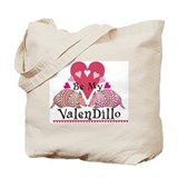 Armadillo Valentine's Day Tote Bag