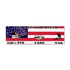 American Dream shirt Car Magnet 10 x 3