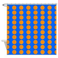 Orange And Blue Polka Dot Shower Curtains Orange And Blue Polka Dot Fabric