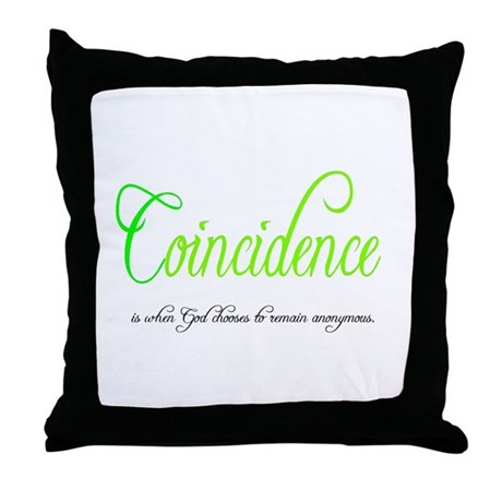 Coincidence Throw Pillow