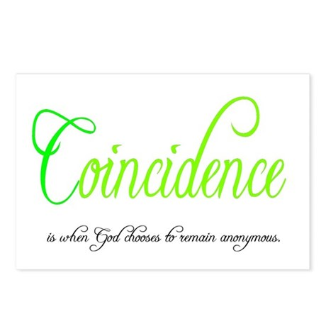 Coincidence Postcards (Package of 8)