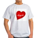 I love Angela products Ash Grey T-Shirt