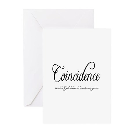 Coincidence Greeting Cards (Pk of 10)