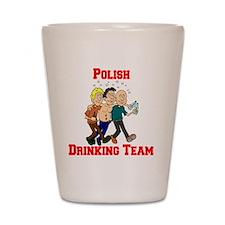 Polish Drinking Team Cartoon Shirt Shot Glass