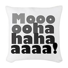 'Evil Laugh' Woven Throw Pillow