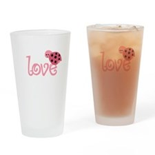 lovebug_dark Drinking Glass