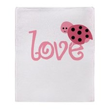 lovebug_dark Throw Blanket