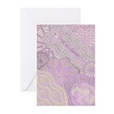 lace panel (lilac,v) Greeting Cards