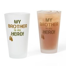 Dog Tag Hero Brother Drinking Glass